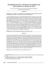 thumbnail of Determinación del contenido de humedad del café durante el secado en silos