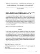 thumbnail of Método para medir el contenido de humedad del café pergamino