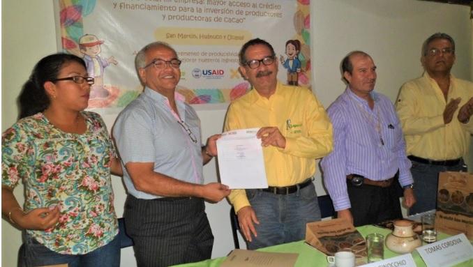 Otorgarán créditos a productores de cacao de Huánuco, San Martín y Ucayali