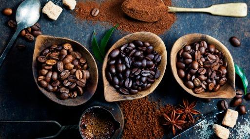 Muestras de tipos de café