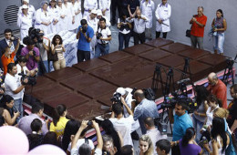 barra de chocolate gigante