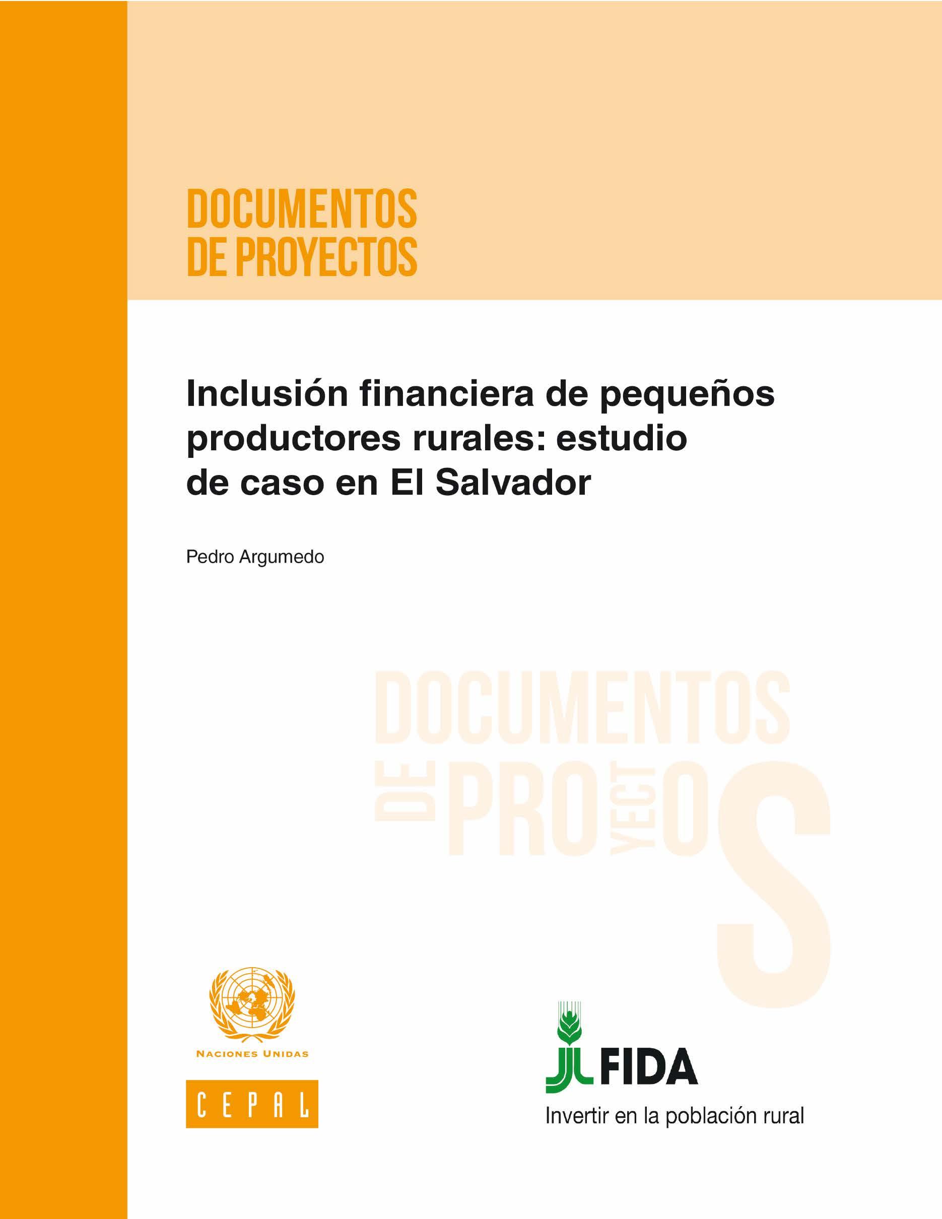 Inclusión financiera de pequeños productores rurales El Salvador
