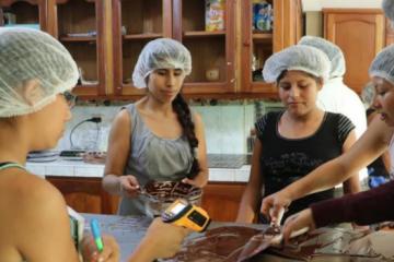 taller preparación chocolate