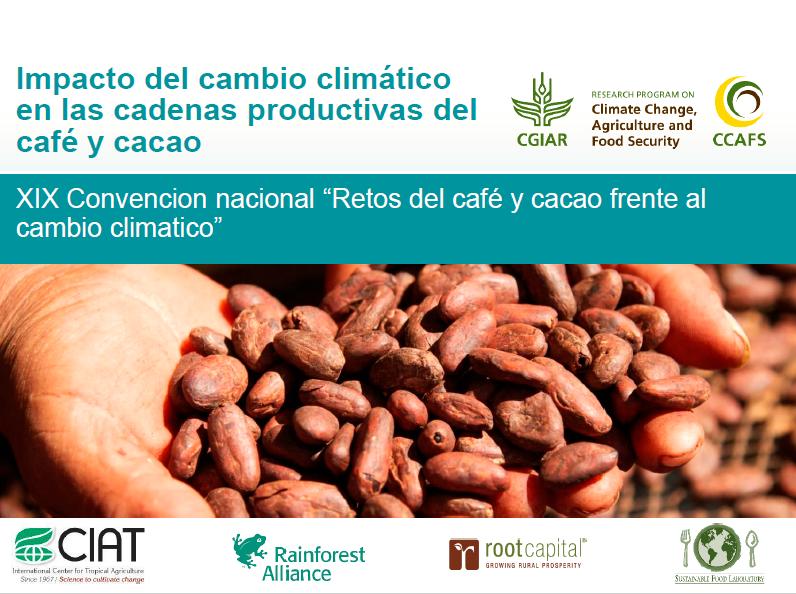 Impacto del cambio climático en cadenas productivas del café y cacao