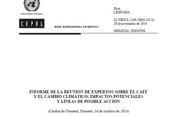 Informe Reunión de Expertos sobre el Café y el Cambio Climático
