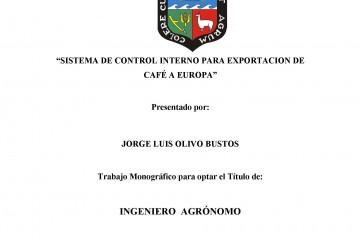 Sistema de control interno para exportacion de cafe a Europa